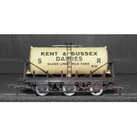 SR S2191P 6 Wheel Tanker 'Kent & East Sussex Dairies' 019 Train - Dapol (6 Wheel Insulated Tanker) front image (front cover)
