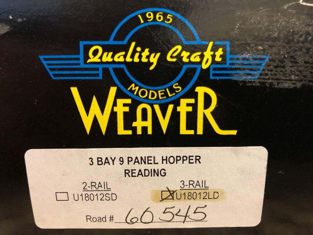 Weaver 9 Panel Hopper Train - Weaver (3-Bay 9 Panel Hopper) back image (back cover, second image)