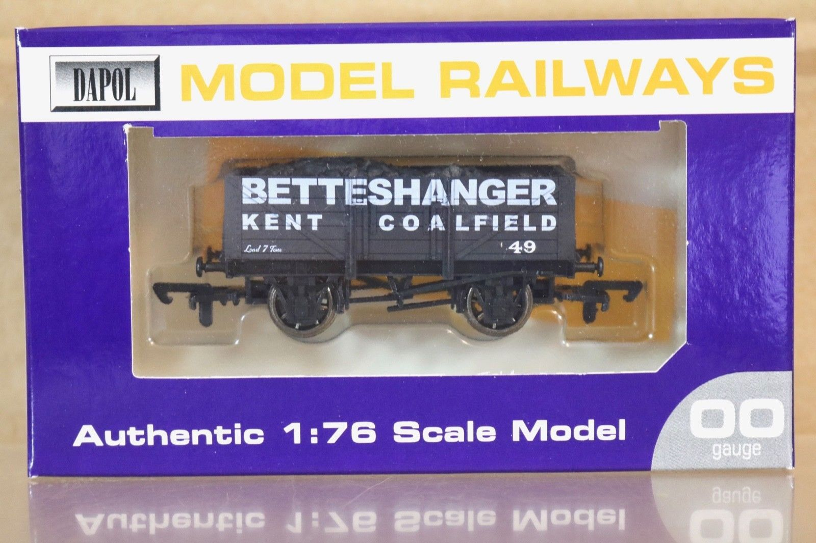 7 Plank Wagon 'Betteshanger' Train - Dapol (7 Plank Wagon) front image (front cover)