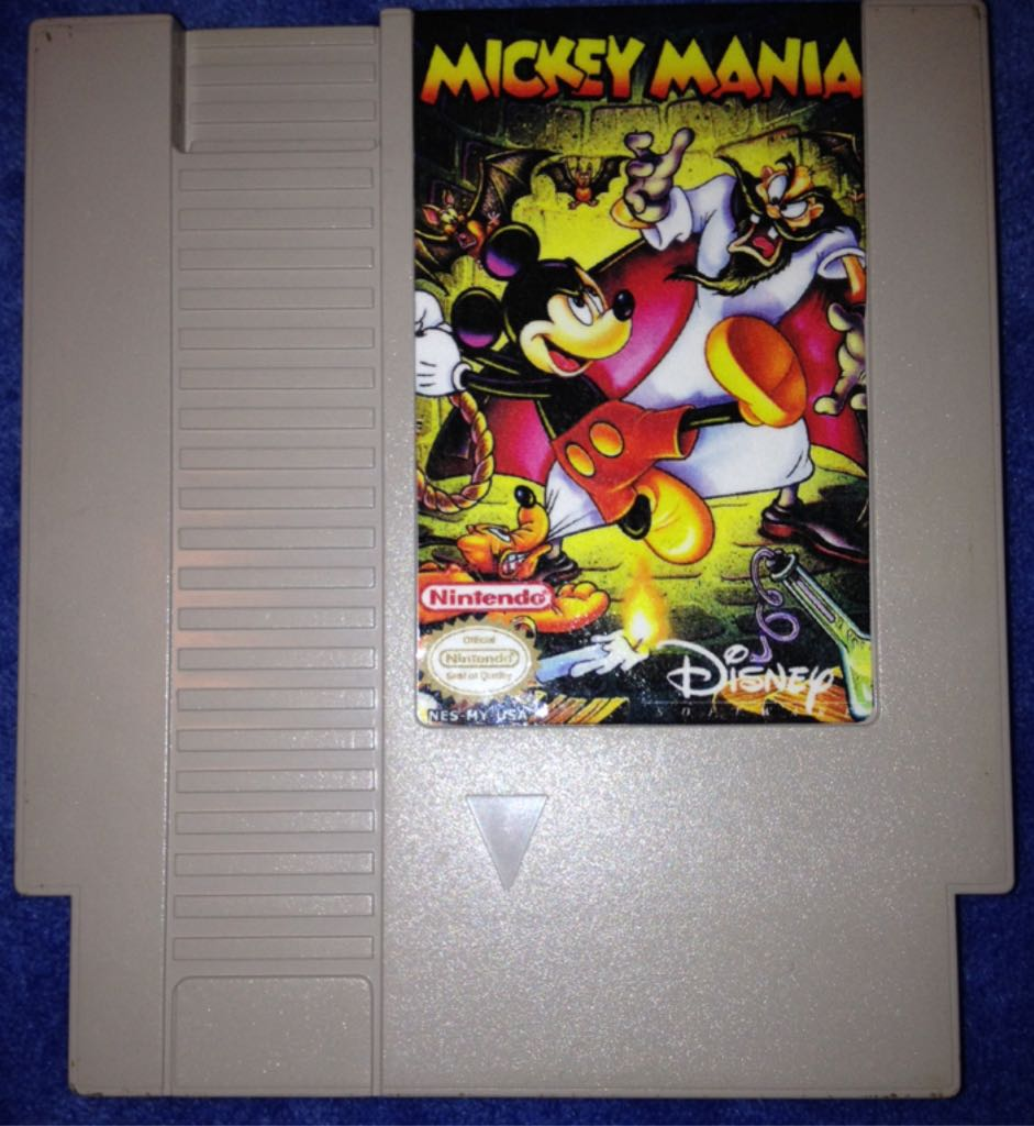 Mickey Mania Video Game - NES (USA) - from Sort It Apps