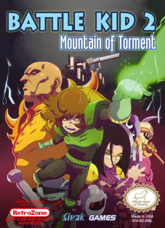 Battle Kid 2: Mountain of Torment Video Game - NES (USA) front image (front cover)