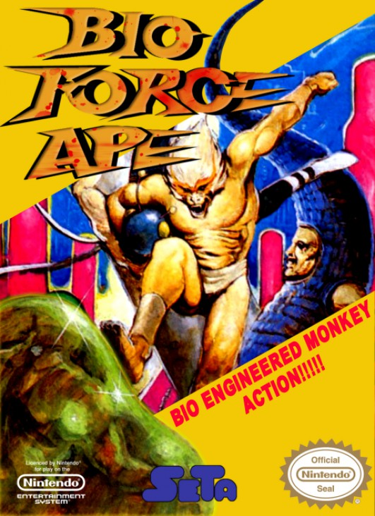 Bio Force Ape Video Game - NES (USA) front image (front cover)