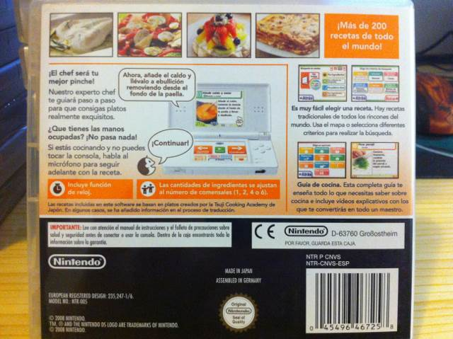 ¡Cocina Conmigo! ¿Qué Preparamos Hoy? Video Game   DS (Spain)