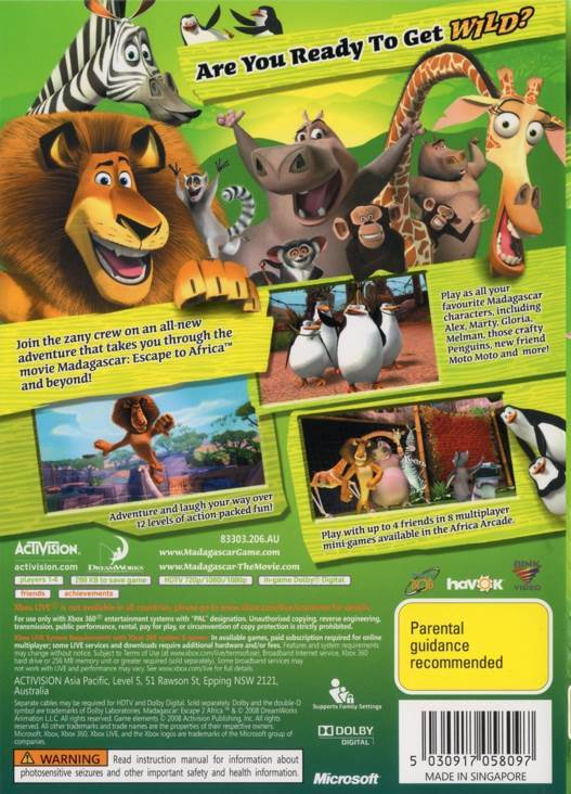 Madagascar Escape 2 Africa Copia Video Game Ps2 Australia From Sort It Apps