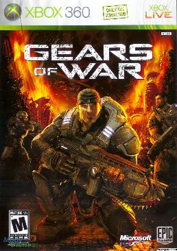 Gears Of War Video Game - Xbox 360 (England) front image (front cover)