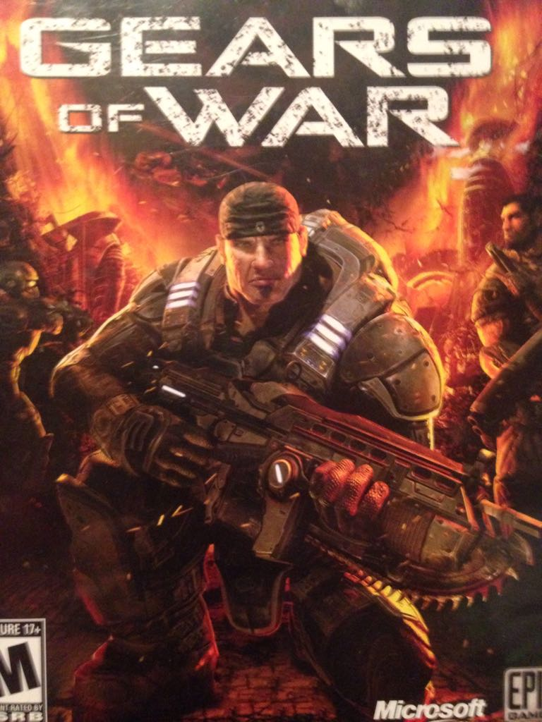 Gears Of War Video Game - Xbox 360 front image (front cover)