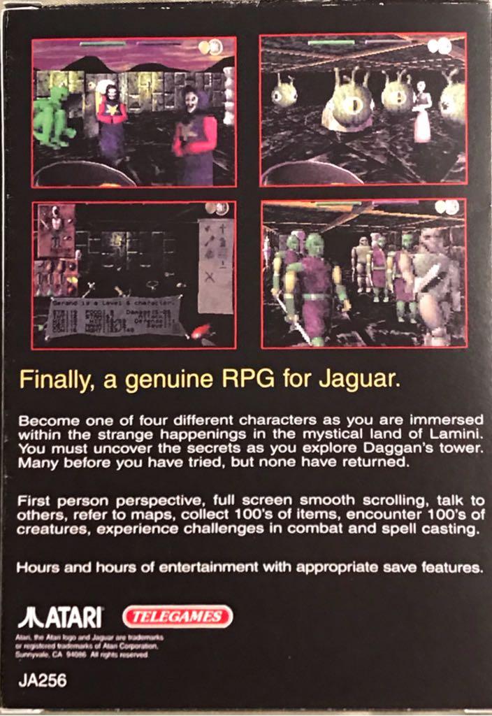 Towers II Plight Of The Stargazer Video Game - Atari Jaguar