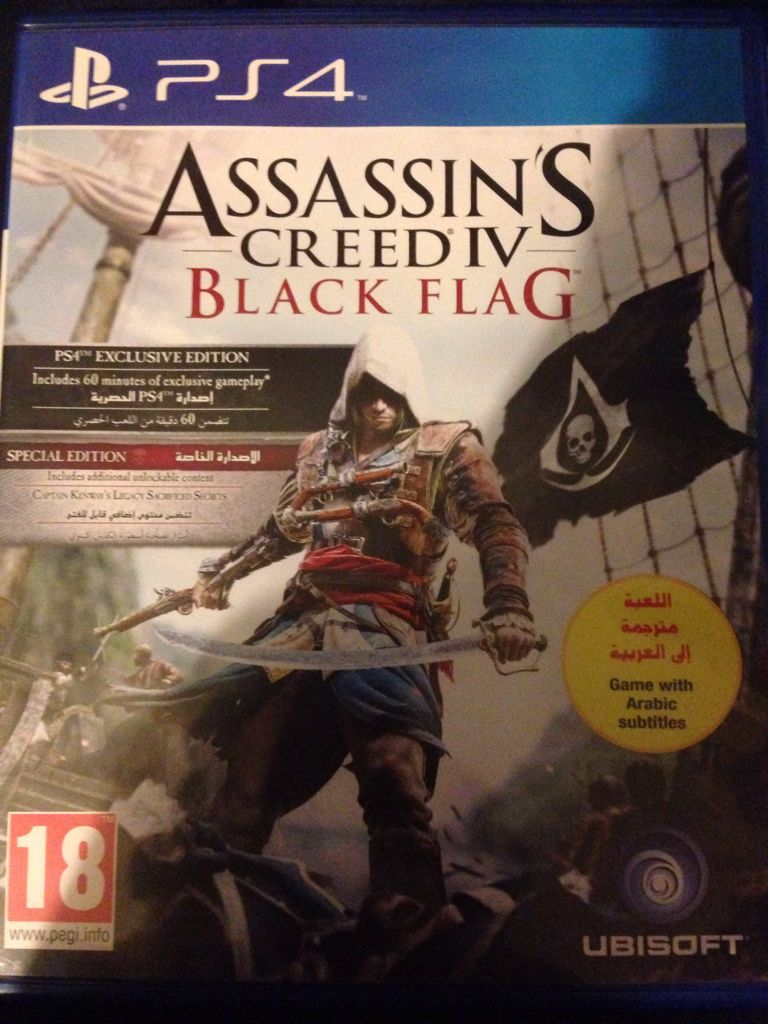 Assassins Creed Iv Black Flag Video Game Ps4 United Arab