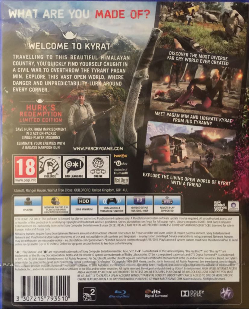 Far Cry 4 Video Game - PS4 (UK) - from Sort It Apps
