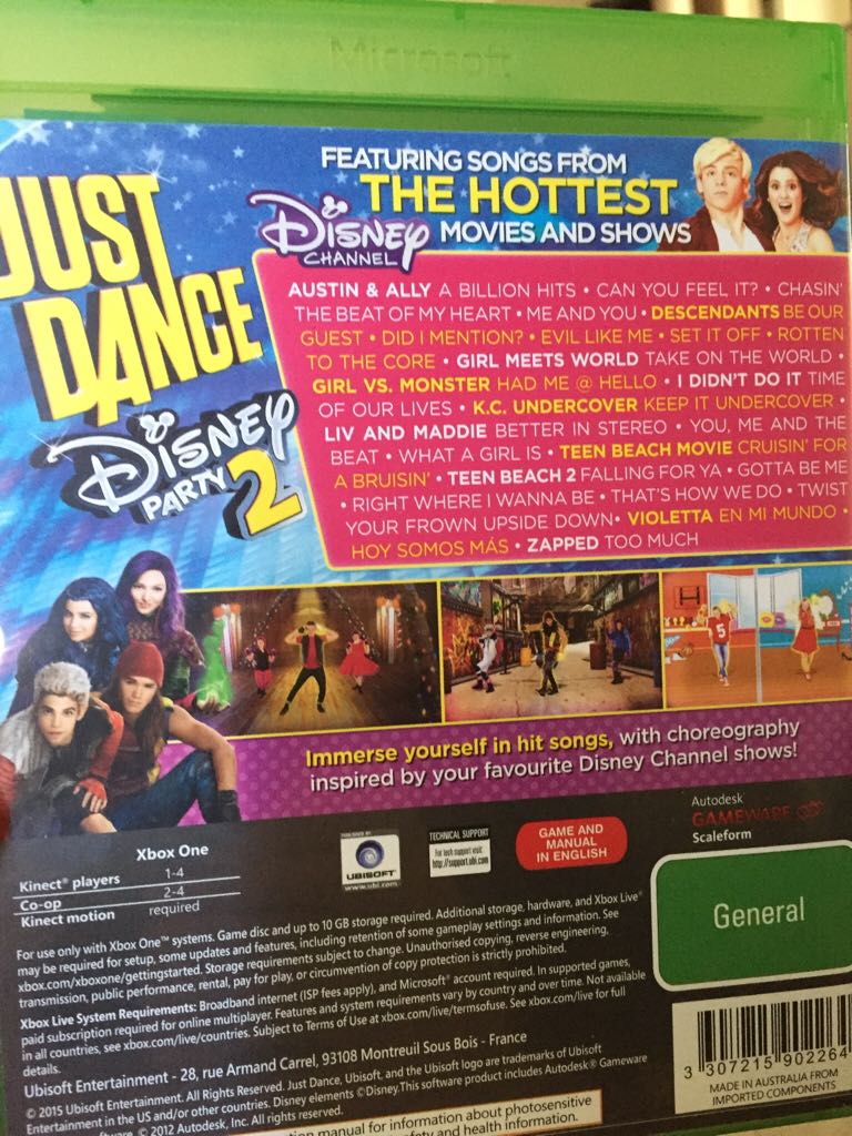 Just Dance Disney Party 2 Video Game - Xbox One - from Sort It Apps