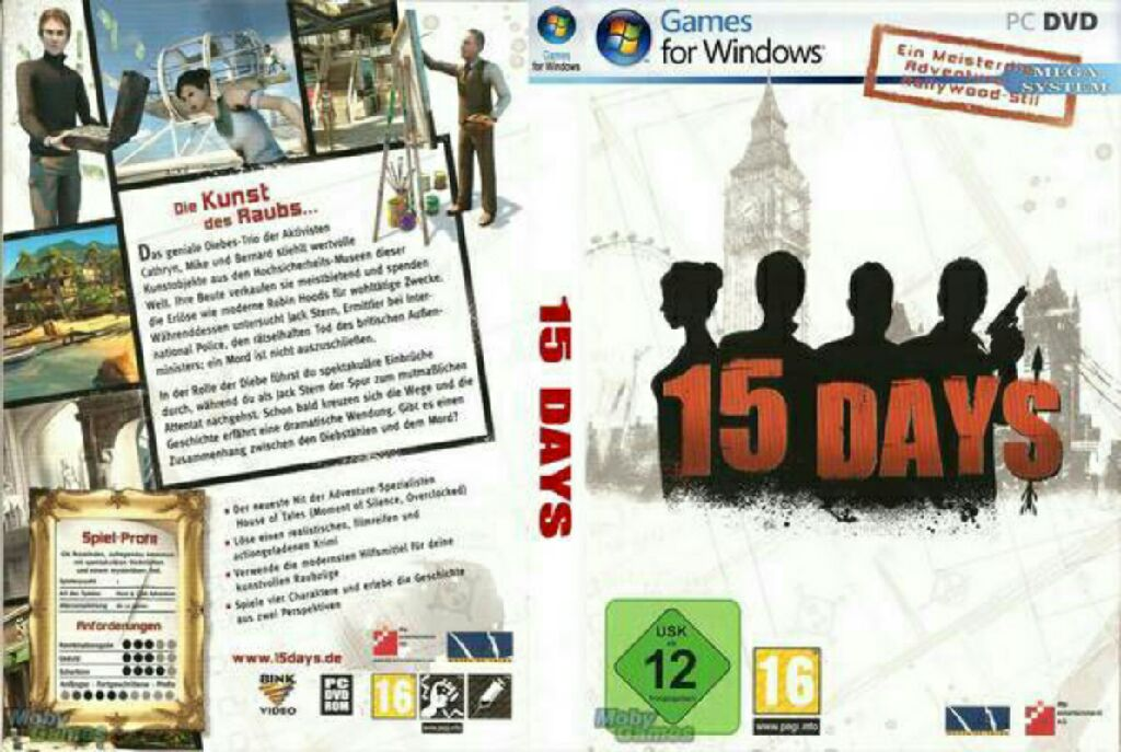 15 Days Video Game - PC back image (back cover, second image)