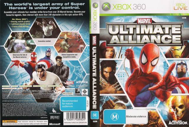 Marvel Ultimate Alliance Video Game - Xbox 360 (France) - from Sort