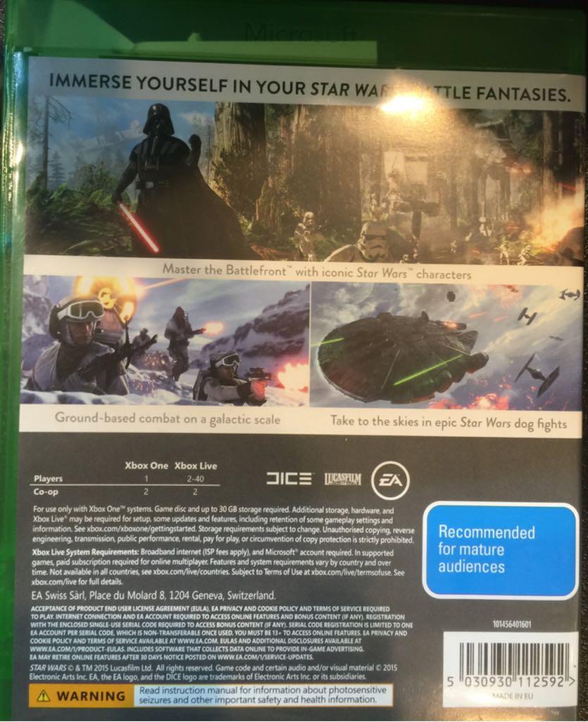 star wars battlefront video game xbox one from sort. Black Bedroom Furniture Sets. Home Design Ideas