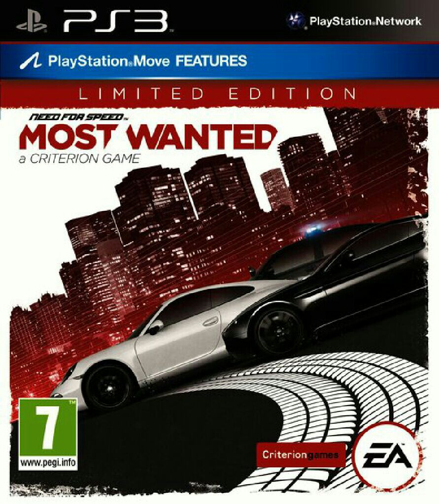 Need For Speed Most Wanted Limited Edition Video Game Ps3