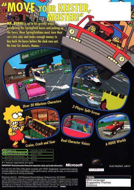 The Simpsons Road Rage Video Game - PS2 (Australia) - from