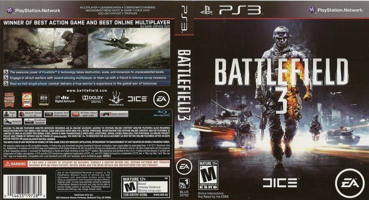 Battlefield 3 Video Game - PS3 (USA) - from Sort It Apps