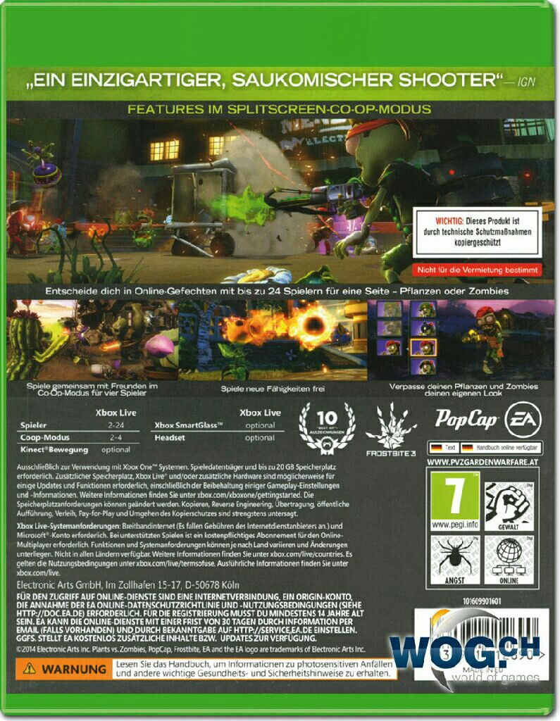 Plants vs zombies garden warfare video game xbox one - Plants vs zombies garden warfare xbox one ...