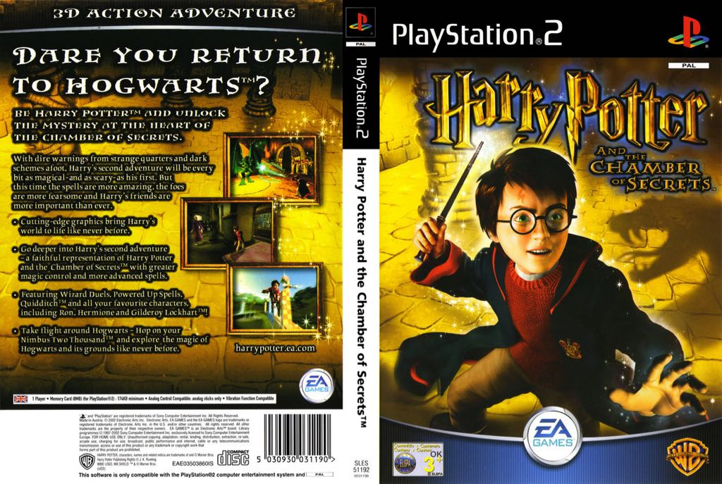 Harry Potter 2 Et La Chambre Des Secrets Video Game   PS2 (Suisse) Back
