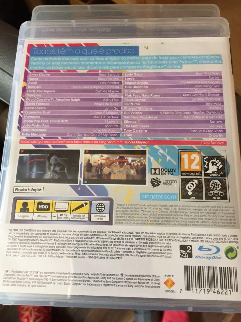 Singstar Nova Geracao Video Game - PS3 - from Sort It Apps