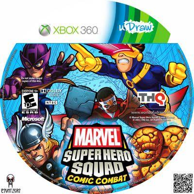 Udraw Marvel Super Hero Squad Comic Combat Video Game Xbox 360