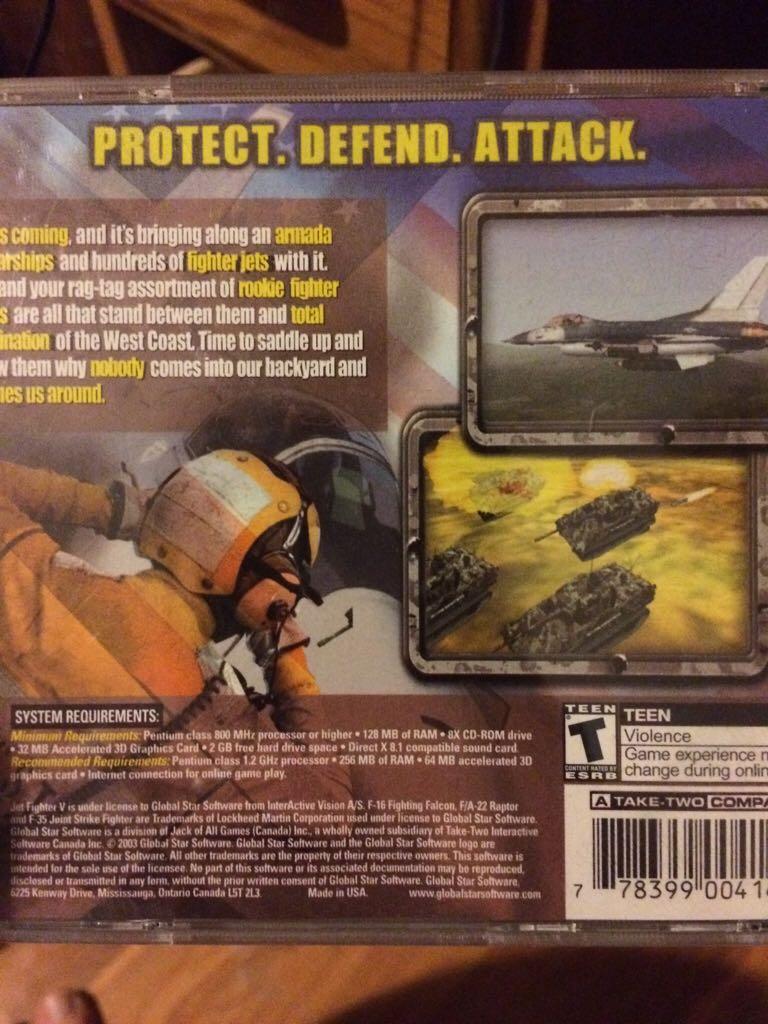 Jet fighter V Homeland Protector Video Game - PC - from Sort