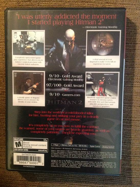 Hitman 2 Silent Assassin Video Game Ps2 Uk From Sort It Apps