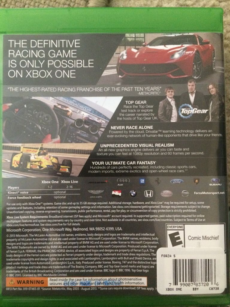 Forza 5 Video Game - Xbox One - from Sort It Apps