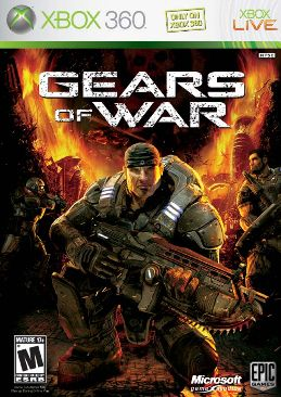 Gears Of War Video Game - Xbox 360 (France) front image (front cover)
