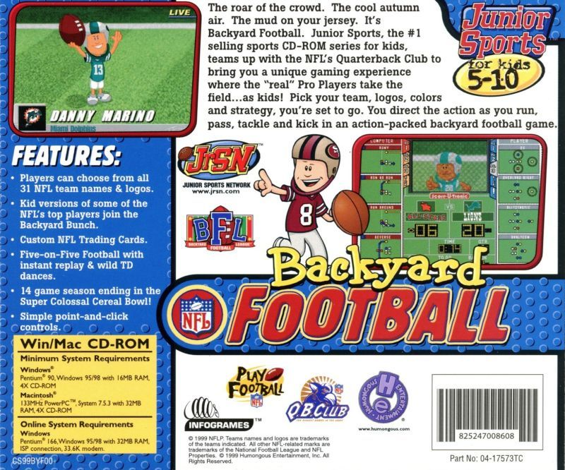 Backyard Football Video Game backyard football jewel video game - pc (usa) - from sort it apps