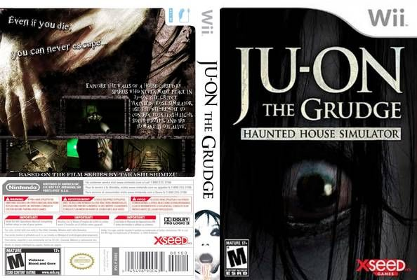 Ju On The Grudge Haunted House Simulator Video Game Wii Usa Back