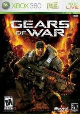 Gears Of War Video Game - Xbox 360 (Brazil) front image (front cover)