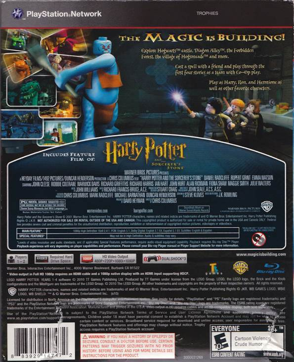 Lego Harry Potter Years 1 4 Video Game Ps3 Usa From Sort It Apps