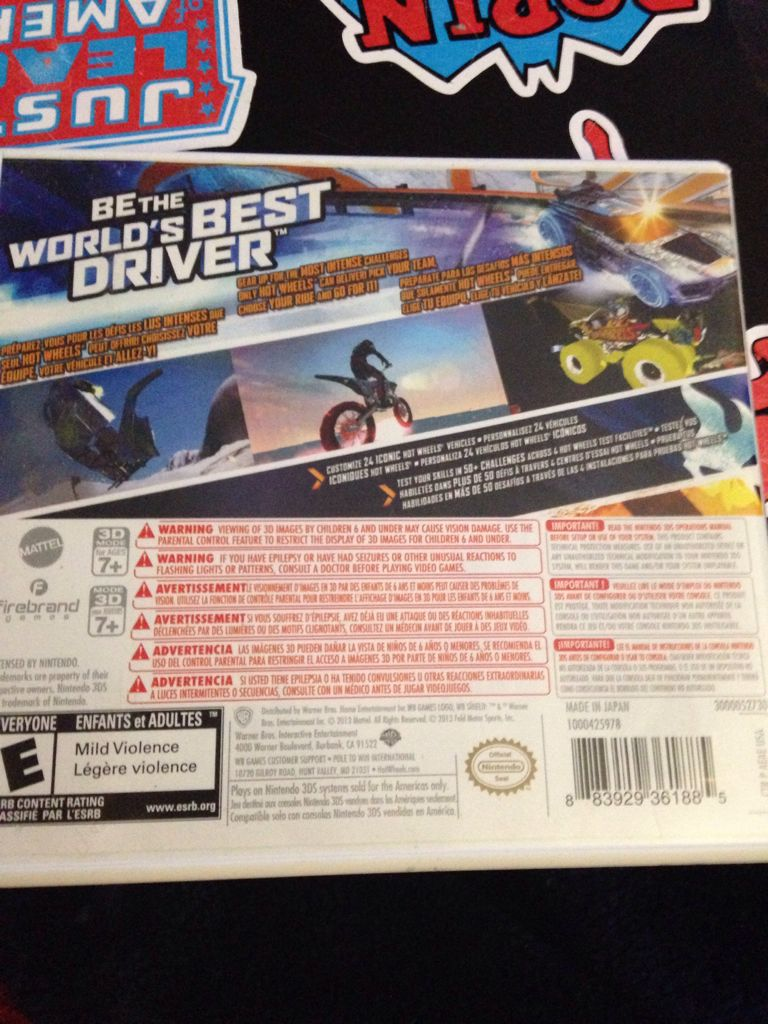 Hot Wheels Worlds Best Driver Video Game - 3DS (Canada) - from Sort