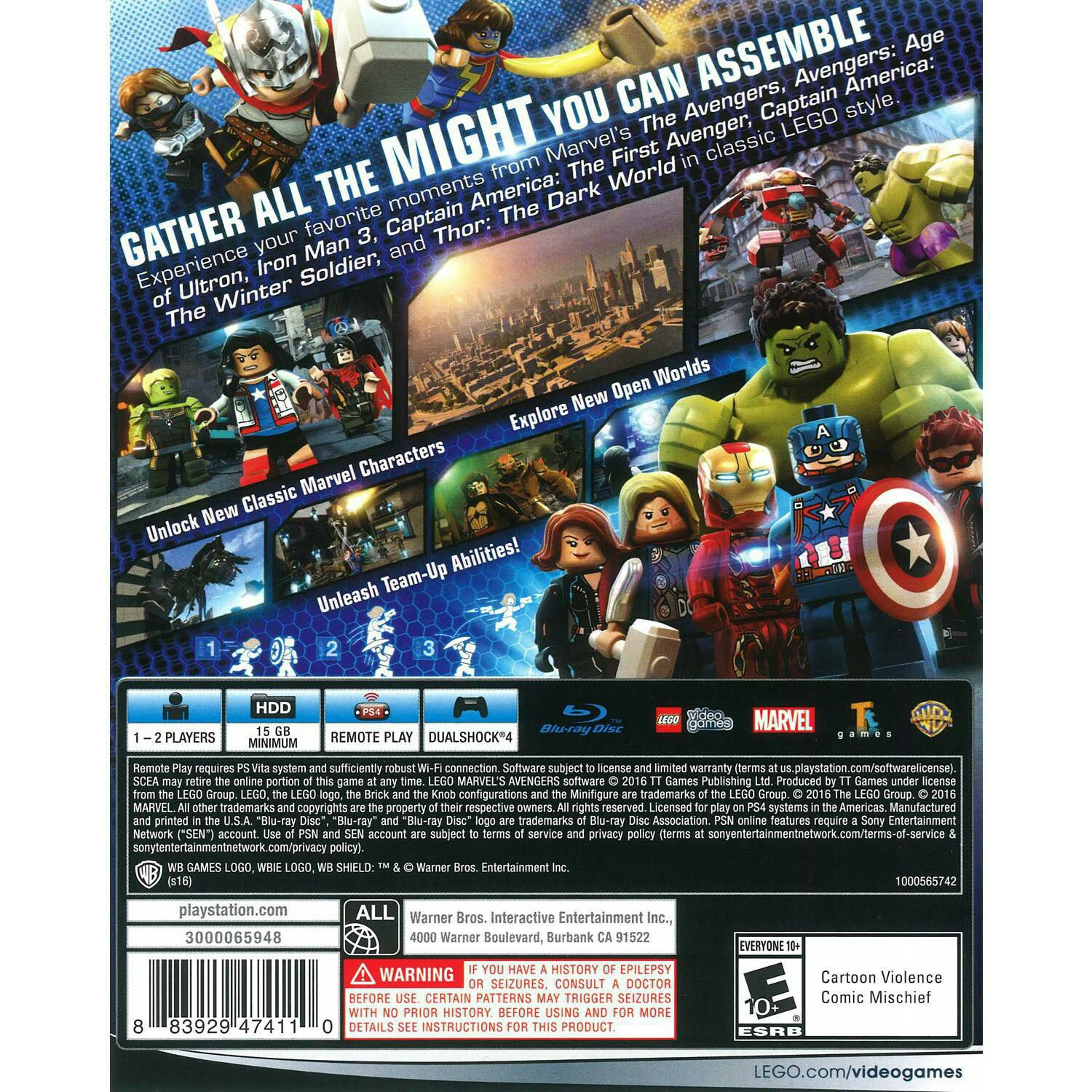 LEGO : Avengers Video Game - PS4 (USA) - from Sort It Apps