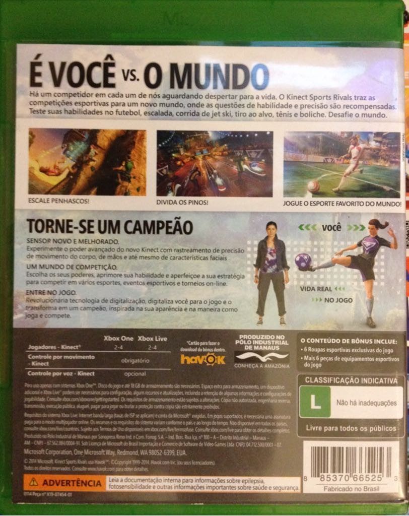 Kinect Sports Rivals Video Game - Xbox One (Brazil) - from