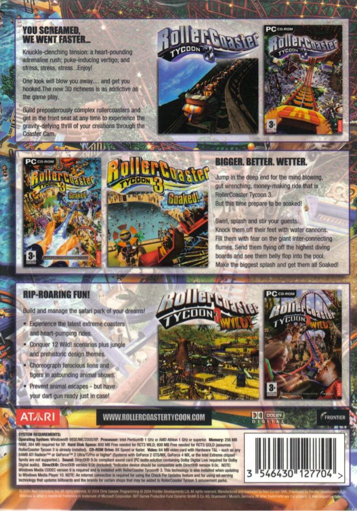 Roller Coaster Tycoon 3 Video Game - PC - from Sort It Apps