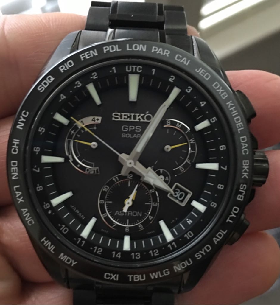 Seiko Astron GPS Solar Dual Time Watch - Seiko (SSE079) front image (front cover)