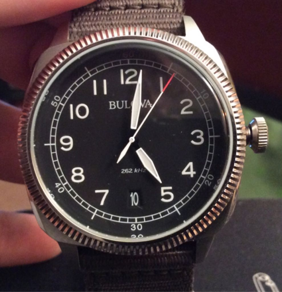 Bulova Ref. 96B229 Military UHF Watch - Bulova (Ref. 96B229, Military UHF (262 KHz) HAQ) front image (front cover)