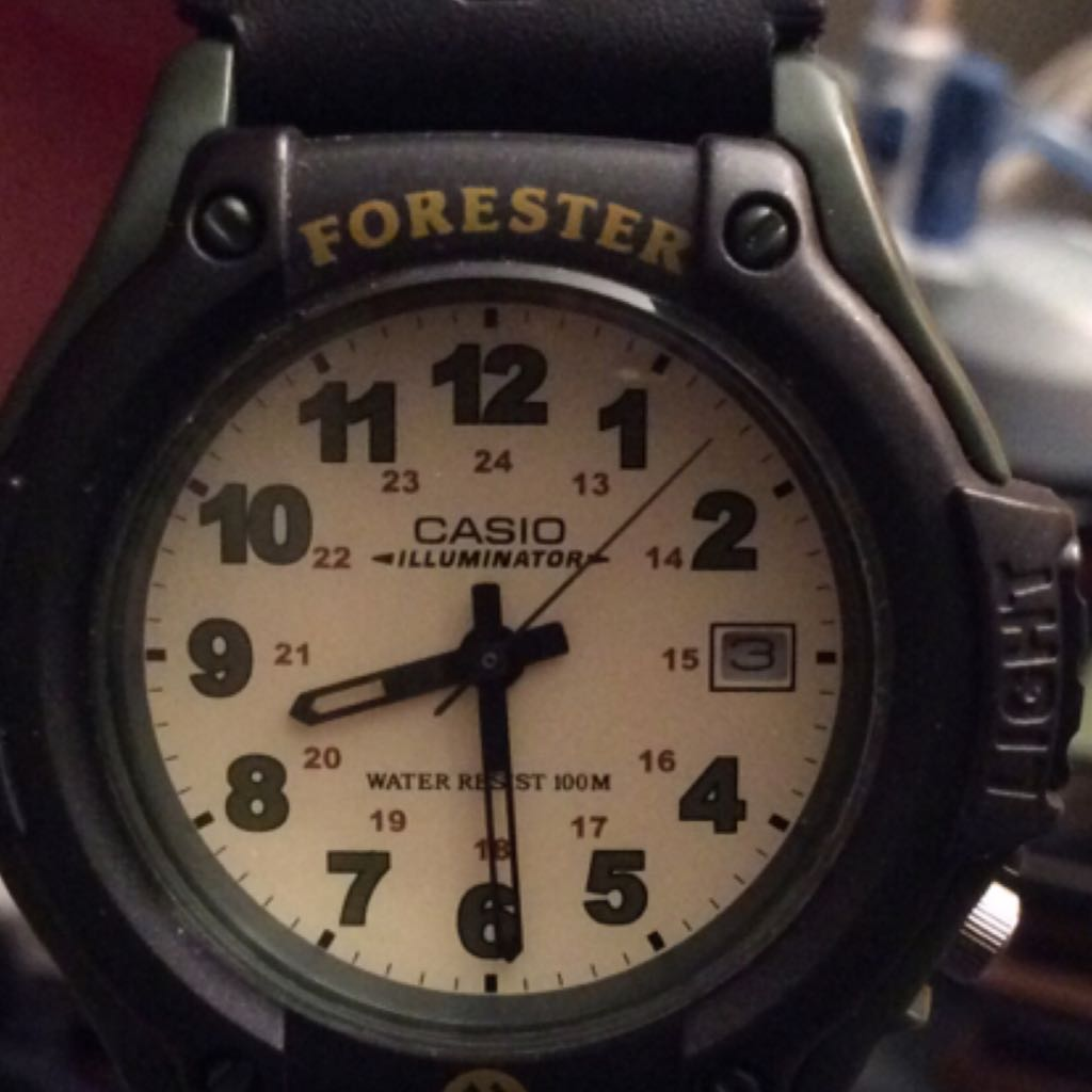 CASIO Forester FT500WVB-3BV Analog Green Nylon Strap Sports WATCH Watch - Casio (Forester 100M, Analog) front image (front cover)