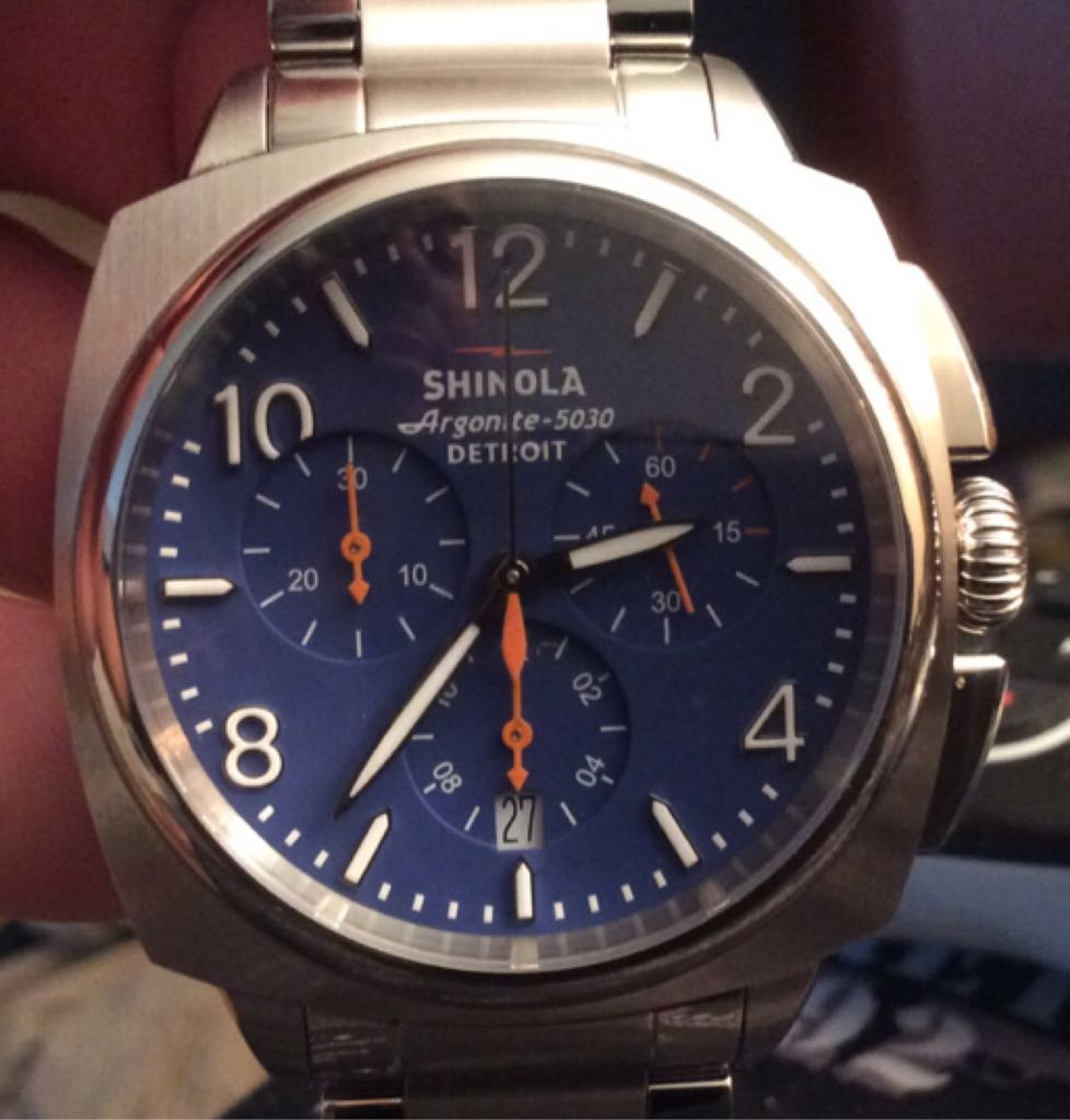 Shinola Watch - Shinola (Brakeman, Blue Face Chronograph) front image (front cover)
