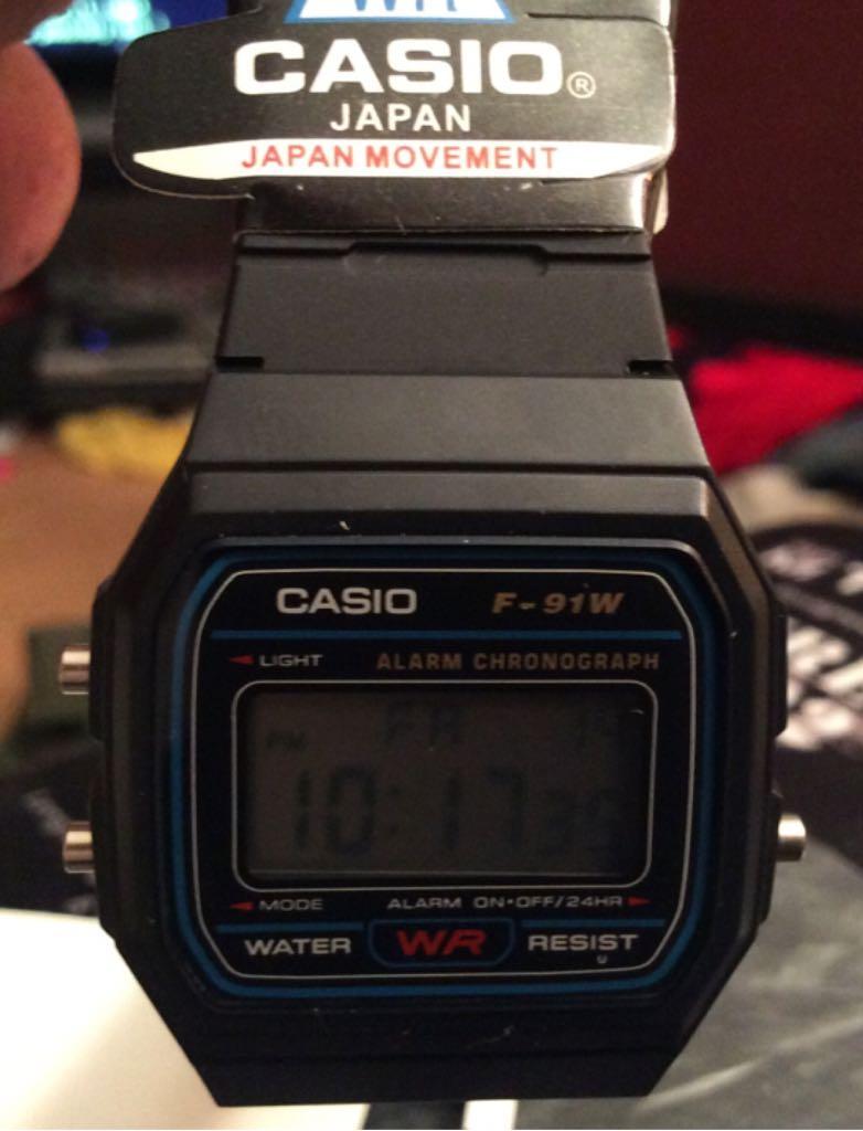 CASIO F-91W Watch - Casio (EDB-610) front image (front cover)