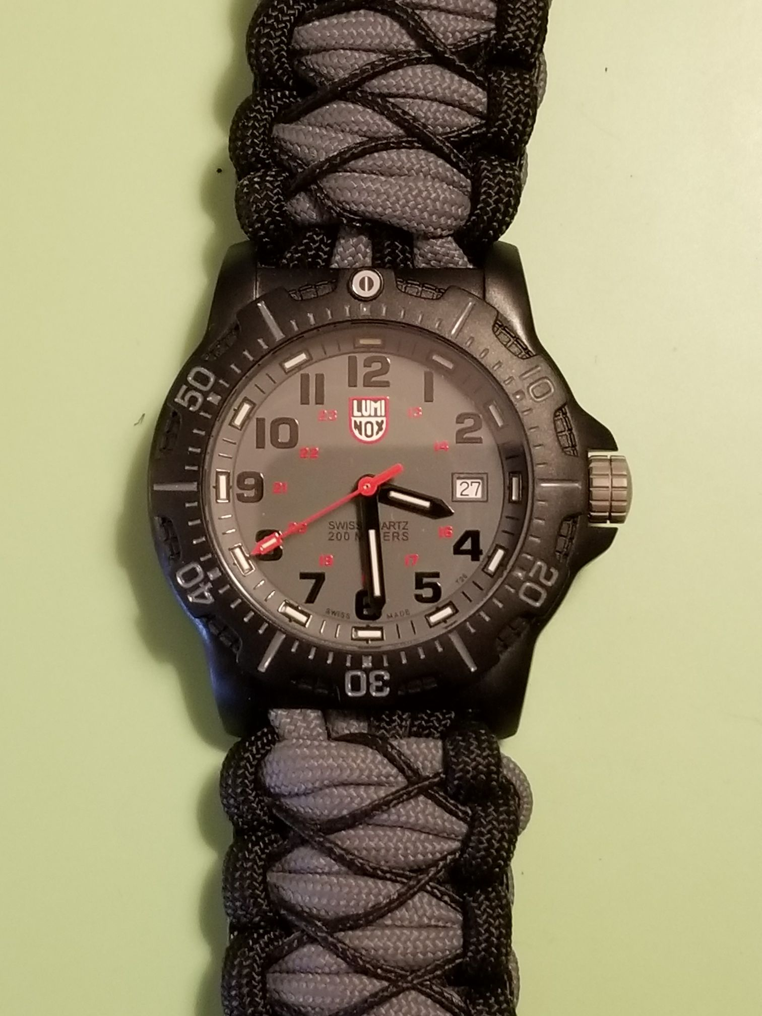 Luminox Black Ops Carbon Watch - Luminox (8802) back image (back cover, second image)