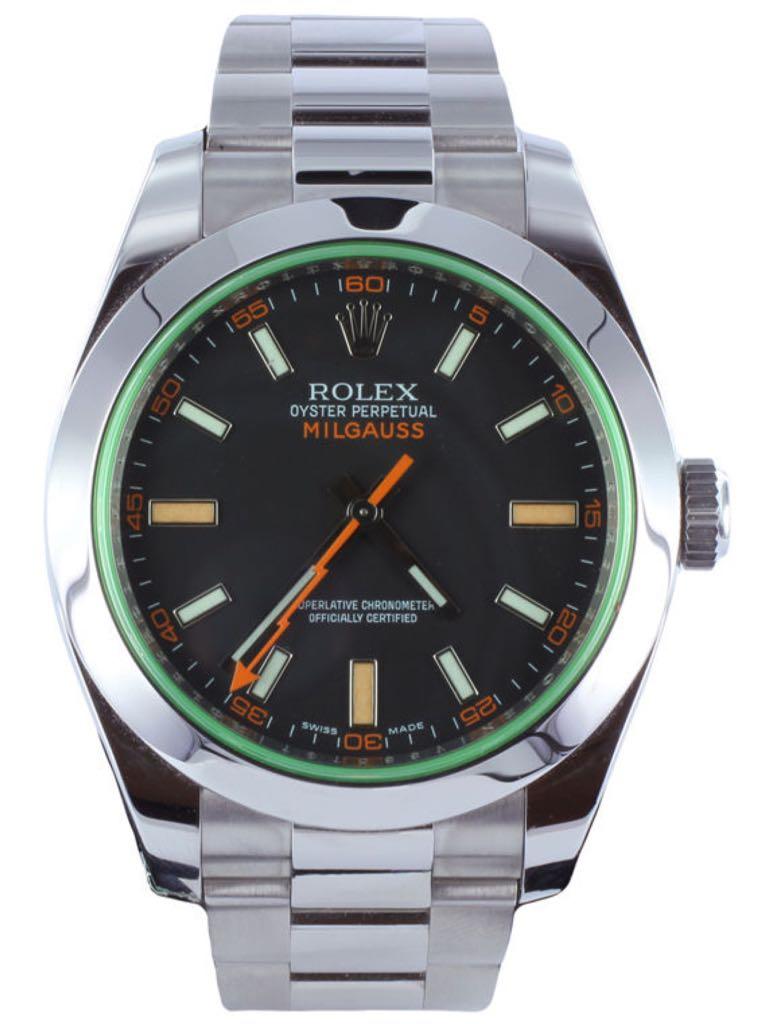 Milgauss Watch - Rolex (Milgauss 116400) front image (front cover)
