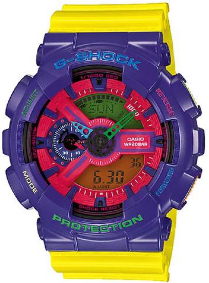 G-Shock Watch - Casio (GA-110HC) front image (front cover)
