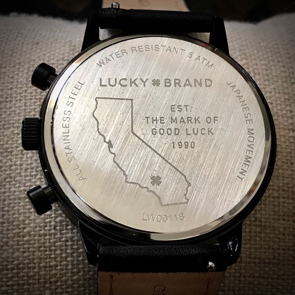 Fairfax Watch - Lucky Brand (LW00118) back image (back cover, second image)