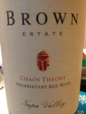 Chaos Theory Wine - Zinfandel / Cabernet (Brown Estate) front image (front cover)