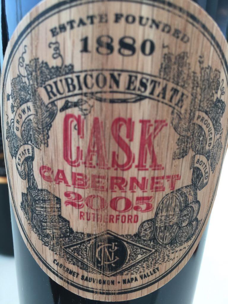 2005 - Cask Cabernet Wine - 100% Cabernet Sauvignon (Rubicon) front image (front cover)