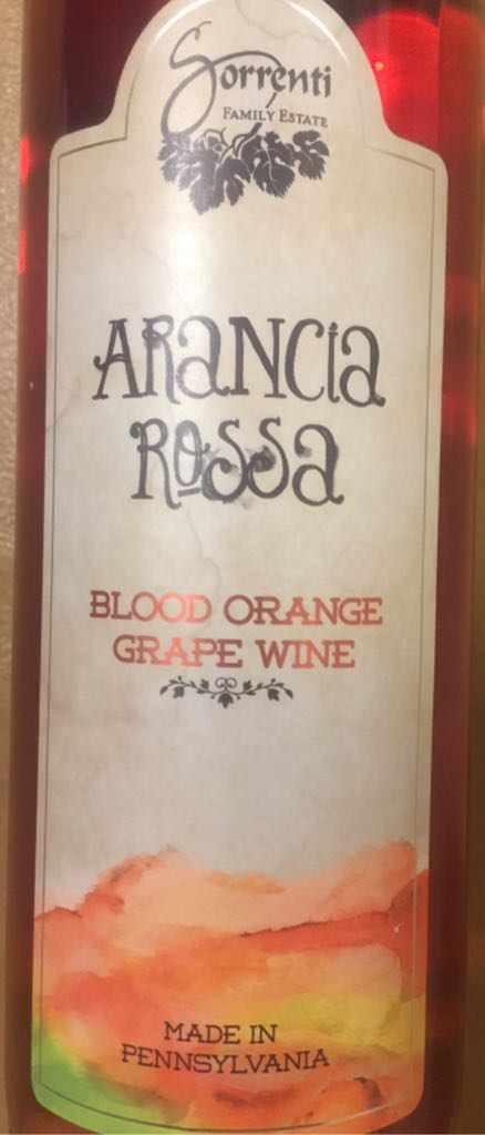 Arancia Rossa Wine - Blood Orange Grape Wine (Sorrenti) back image (back cover, second image)