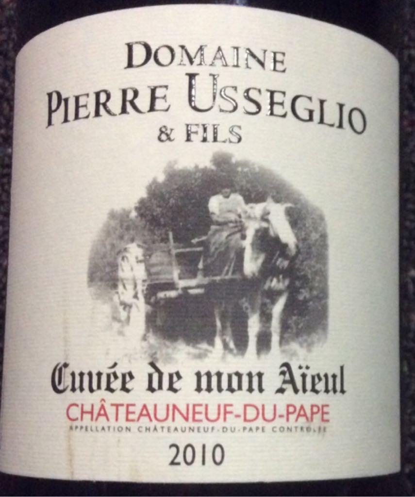 Chateauneuf du Pape Wine - 100% Cabernet Sauvignon (Domaine Pierre Usseglio & Fils) front image (front cover)