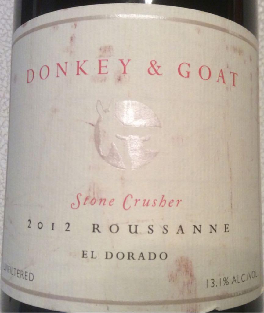 Donkey & Goat Wine - Rousanne (Donkey & Goat) front image (front cover)